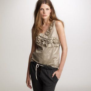 J. Crew Fountain Cami in Gold Shimmer